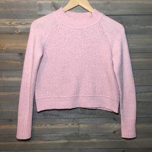 A.L.C small pink Jackson waffle knit sweater